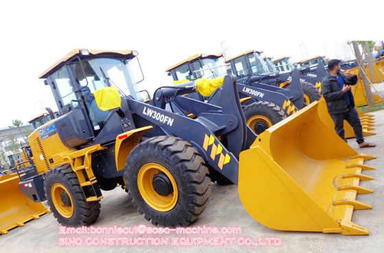 LW300FN 130kN 3 Ton Construction Wheel Loader With Spare Parts